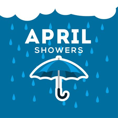 April Showers Vector Design For Banner or Background