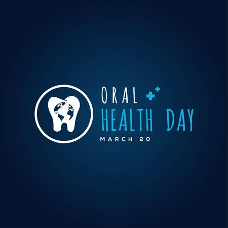 World Oral Heath Day Vector Design For Banner or Background Ilustrace