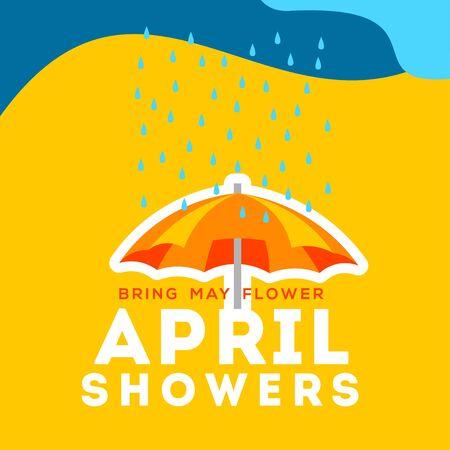 April Showers Vector Design For Banner or Background