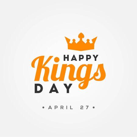 Kings Day Vector Design For Banner or Background Ilustração