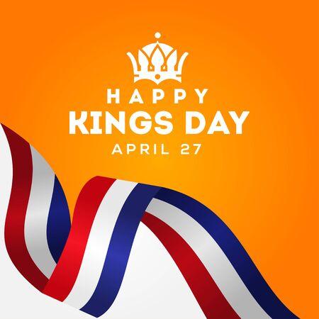 Kings Day Vector Design For Banner or Background Stock Illustratie