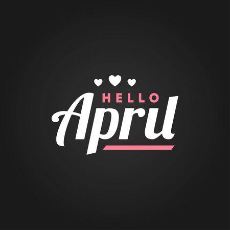 Hello April Vector Design For Banner or Background