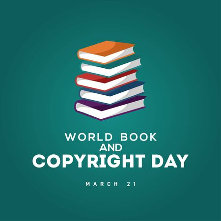 World Book And Copyright Day Vector Design For Banner or Background