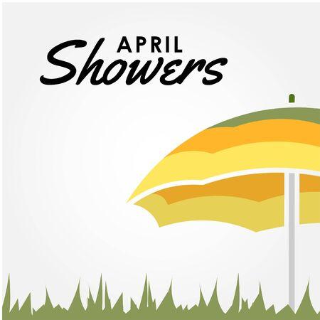 April Shower Vector Design Illustration For Celebrate Moment Vecteurs
