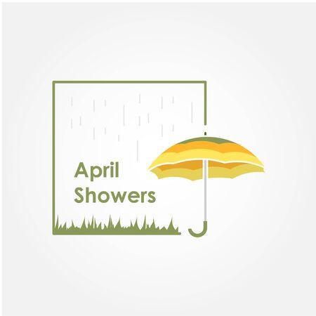 April Shower Vector Design Illustration For Celebrate Moment
