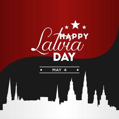 Latvia Independence Day Vector Design Illustration For Celebrate Moment Illusztráció