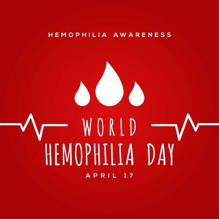 World Hemophilia Day Vector Design Illustration For Humanity Moment Vektorové ilustrace