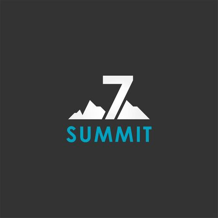 Seven Summit Vector Design For Banner And Background