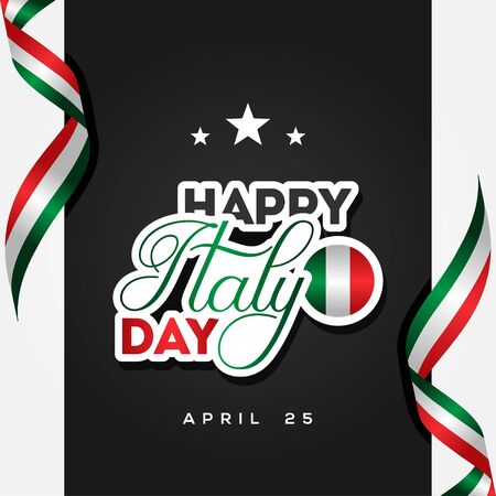 Italy Liberation Day Vector Design Illustration For Celebrate Moment