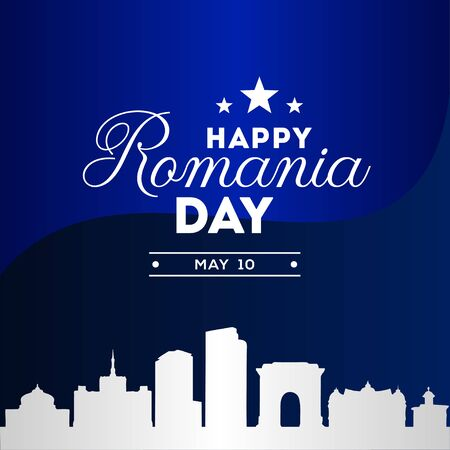 Romania Independence Day Vector Design Illustration For Celebrate Moment