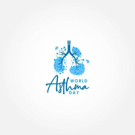World Asthma Day Vector Design Illustration For International Moment 스톡 콘텐츠 - 146232333