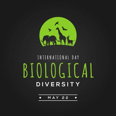 International Day Biological Diversity Vector Design Illustration For Celebrate Moment