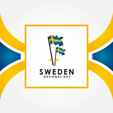 Sweden Independence Day Vector Design Illustration For Celebrate Moment