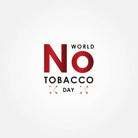 World No Tobacco Day Vector Design Illustration For Celebrate Moment