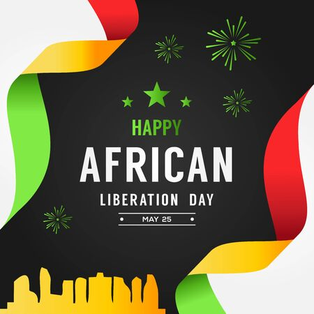 Happy African Liberation Day Vector Design Illustration For Celebrate Moment