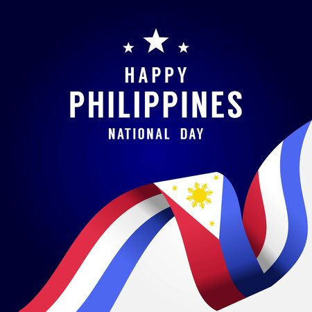 Happy Philippines Independence Day Vector Design Illustration For Celebrate Moment