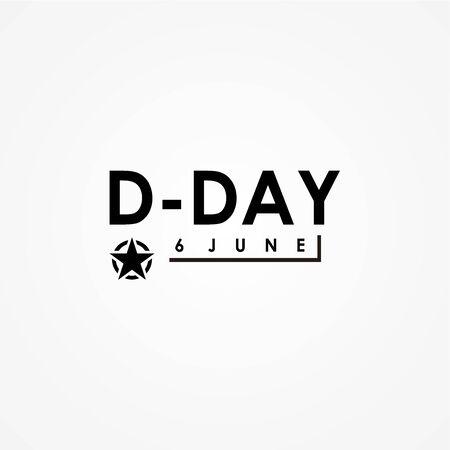 D-Day Vector Design Illustration For Memorial Moment