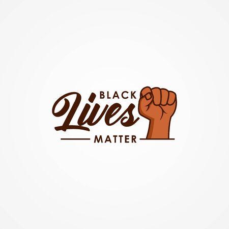 Black Lives Matter Vector Design Illustration Moment Illusztráció