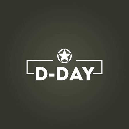 D-Day Vector Design Illustration For Memorial Moment