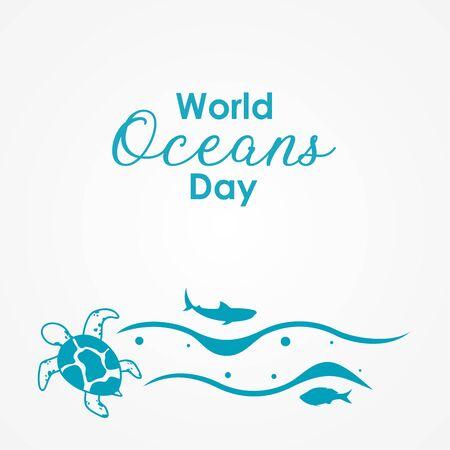 Happy World Ocean Day Vector Design Illustration For Celebrate Moment