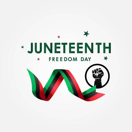 Juneteenth Freedom Day Vector Design Illustration For Celebrate Moment 矢量图像