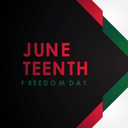 Juneteenth Freedom Day Vector Design Illustration For Celebrate Moment Vektoros illusztráció