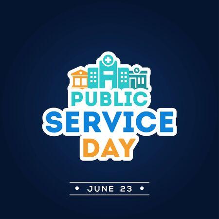 Public Service Day Vector Design Illustration For Celebrate Moment