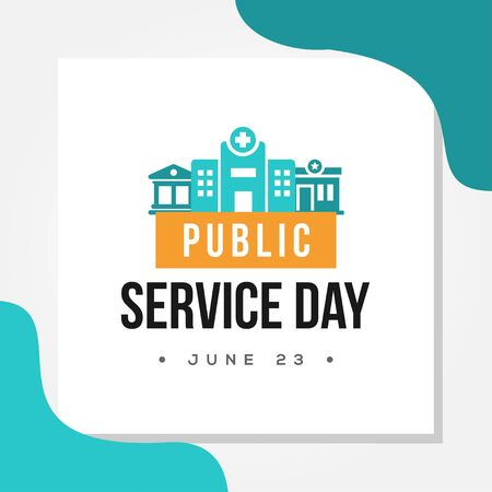 Public Service Day Vector Design Illustration For Celebrate Moment