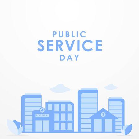 Public Service Day Vector Design Illustration For Celebrate Moment Vector Illustratie