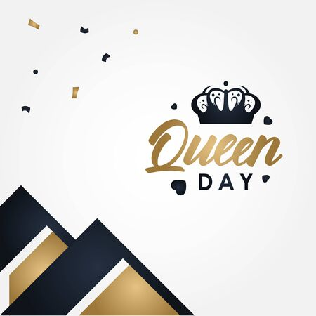 Happy Queens Day Vector Design Illustration For Celebrate Moment Stock Illustratie