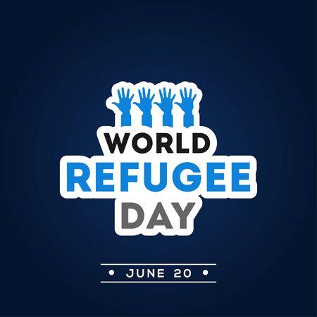 World Refugee Day Vector Design Illustration For International Issue