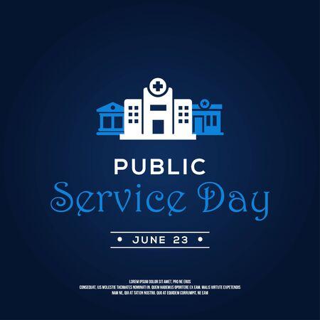 Public Service Day Vector Design Illustration For Celebrate Moment Vecteurs