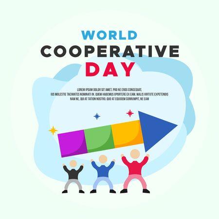World Cooperative Day Vector Design Illustration For Celebrate Moment