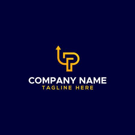 Up Logo Vector Design Illustration For Company Stock Illustratie