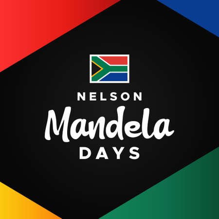 International Nelson Mandela Day Vector Design Illustration For Celebrate Moment 向量圖像