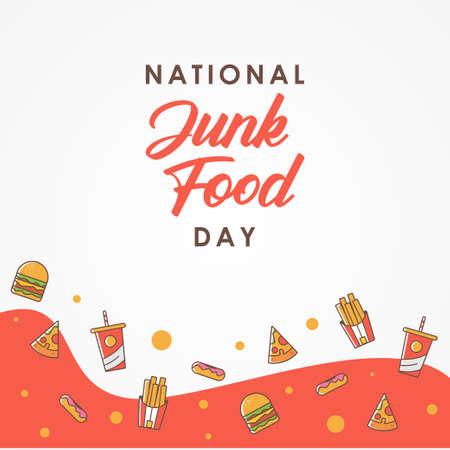 National Junk Food Day Vector Design Illustration For Celebrate Moment
