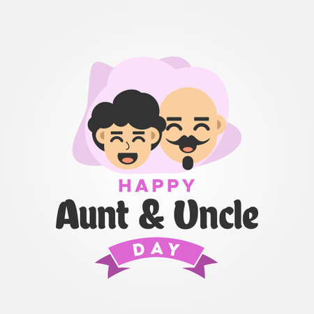 Happy Aunt and Uncle Day Vector Design Illustration For Celebrate Moment Vettoriali