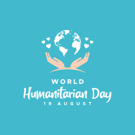 World Humanitarian Day Vector Design Illustration For Celebrate Moment