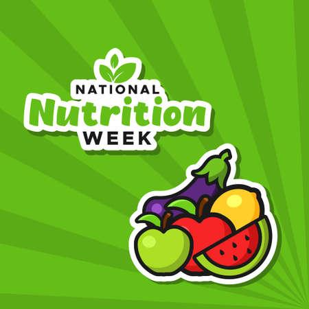 National Nutrition Week Vector Design Illustration For Celebrate Moment