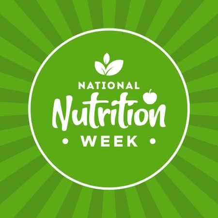 National Nutrition Week Vector Design Illustration For Celebrate Moment Ilustración de vector