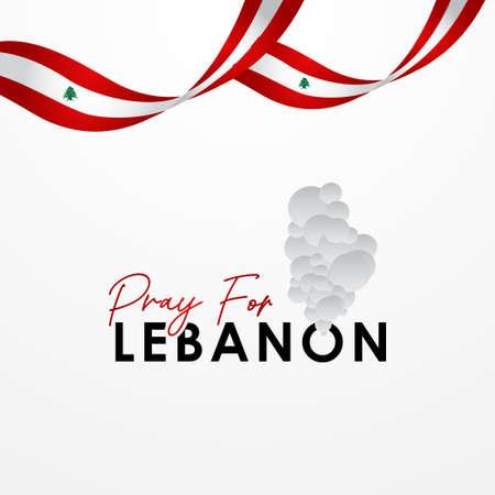 Pray For Lebanon Vector Design Illustration For Accident Moment Archivio Fotografico - 153566872