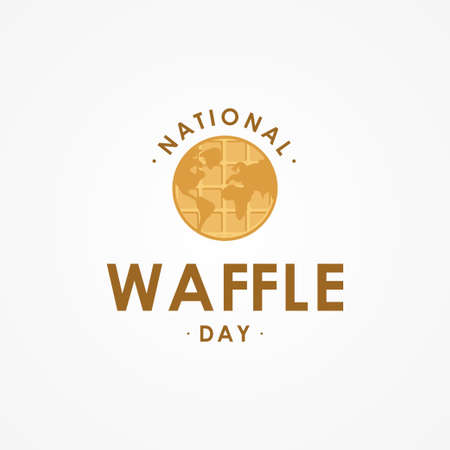 Happy National Waffle Day Vector Design Illustration For Celebrate Moment