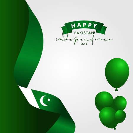 Pakistan Independence Day Vector Design Illustration For Celebrate Moment Banco de Imagens - 154030943