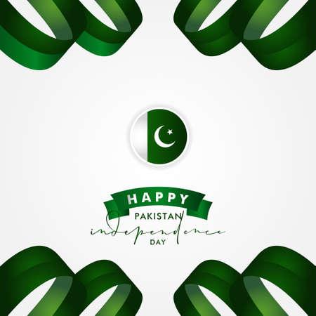Pakistan Independence Day Vector Design Illustration For Celebrate Moment Ilustração