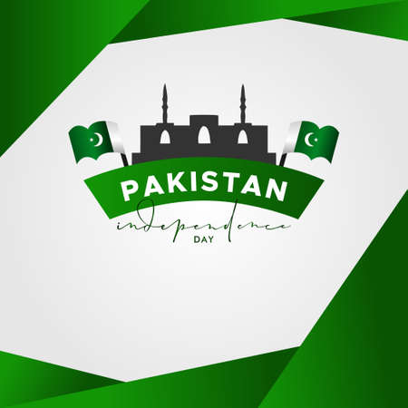 Pakistan Independence Day Vector Design Illustration For Celebrate Moment Banco de Imagens - 154031162