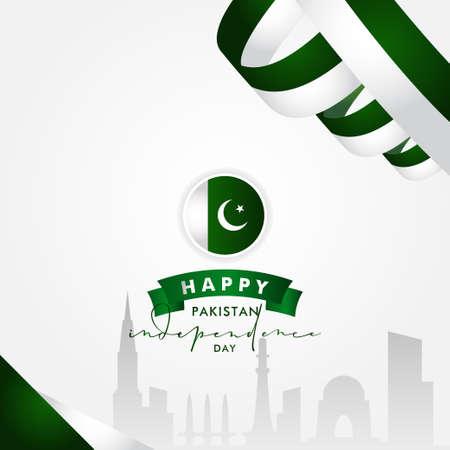 Pakistan Independence Day Vector Design Illustration For Celebrate Moment Banco de Imagens - 154031183
