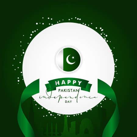 Pakistan Independence Day Vector Design Illustration For Celebrate Moment Banco de Imagens - 154031195