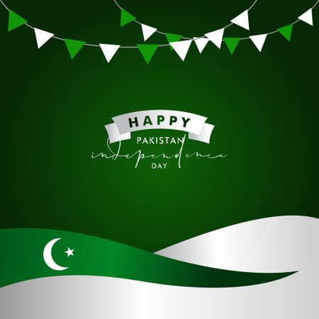 Pakistan Independence Day Vector Design Illustration For Celebrate Moment Banco de Imagens - 154031201