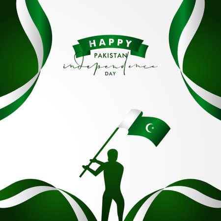 Pakistan Independence Day Vector Design Illustration For Celebrate Moment Banco de Imagens - 154031413
