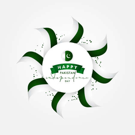 Pakistan Independence Day Vector Design Illustration For Celebrate Moment Banco de Imagens - 154031417